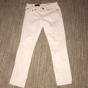 j crew white toothpick jeans
